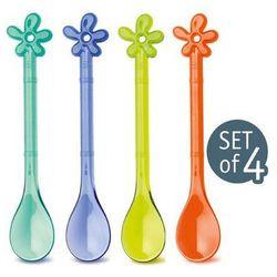 łyżeczki happy spoons a-pril (4/set) różne kolory iv - k3290102, marki Koziol