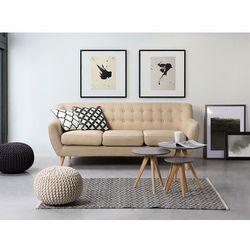 Beliani Sofa beżowa - kanapa - sofa tapicerowana - motala