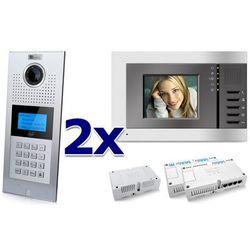 Zestaw wideodomofonowy 2 rodzinny Panel C5 C9E21L-C, 2x Monitor C5 V3, Akcesoria, ZW5954