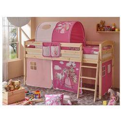 Ticaa kindermöbel Ticaa łóżko z drabinką eric h sosna naturalny - konik (pink), kategoria: łóżeczka i kołyski
