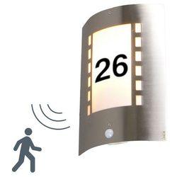 Lampa zewnętrzna Emmerald z czujnikiem ruchu i numerem domu z kategorii Lampy ścienne