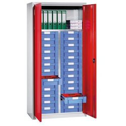 Eurokraft Szafa na materiały i szafa z szufladami,1 półka, 26 szuflad