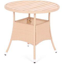 Home&garden Stół z technorattanu okrągły mori beige elegant Ø 80