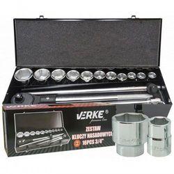 Verke Zestaw kluczy nasadowych 16 el 3/4″ premium line