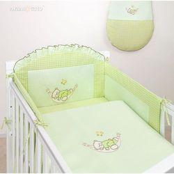 MAMO-TATO pościel 3-el Śpioch w hamaku w zieleni do łóżeczka 60x120cm z kategorii komplety pościeli dla dzieci