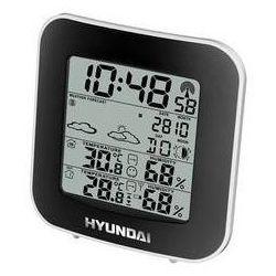 Stacja meteo  hyundai ws 8236 czarna/srebrna marki Hyundai