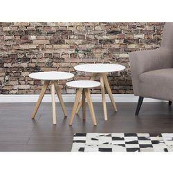 Beliani Stolik kawowy biały - ława - stół - zestaw - vegas (7081454838626)