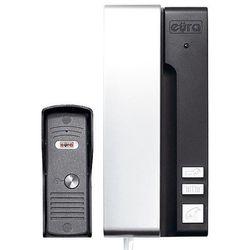 """Eura-tech Domofon """"eura"""" adp-30a3 """"uno"""" 1-rodzinny grafitowo-srebrny mała kaseta zewnętrzna"""
