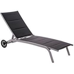 Leżak ogrodowy HOME&GARDEN Ibiza Srebrny (5902425321201)