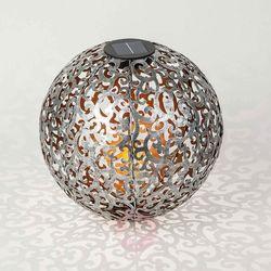 Lampa solarna LED Eduta ornament kula srebro złoto
