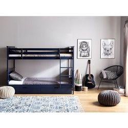 Łóżko piętrowe drewniane ciemnoniebieskie 90 x 200 cm radon marki Beliani