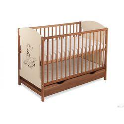 Łóżeczko miki 103 z szufladą orzech/krem (nadruk żyrafka ) odbierz swój rabat marki Skrzat
