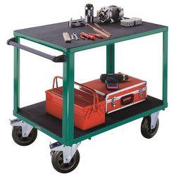 Wózek montażowy, 2 powierzchnie ładunkowe z tworzywa, pow. ładunkowa 1050x700 mm marki Eurokraft active green