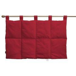 Dekoria  wezgłowie na szelkach, czerwony szenil, 90 x 67 cm, chenille