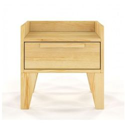 Drewniana szafka nocna z szufladą Iguana 4X - 7 Kolorów, Szafka nocna Skandica Agava