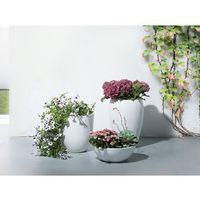 Doniczka biała - ogrodowa - balkonowa - ozdobna - 35x35x55 cm - NESS