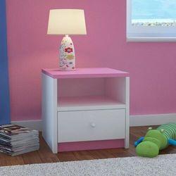 Kocotkids Szafka nocna do sypialni, babydreams, 40 cm, biały, różowy