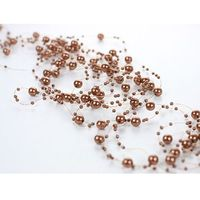 Girlanda perłowa cappucino - 1,3 m - 5 szt. (5901157430649)