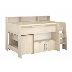 Łóżko apoline - z biurkiem i miejscem do przechowywania - 90x200 cm - kolor: dębowy marki Vente-unique