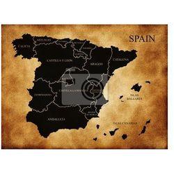Naklejka Mapa podziału administracyjnego Hiszpanii - oferta [15154f7c97157682]