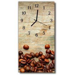 Zegar Szklany Pionowy Kuchnia Ziarna kawy z drewna brązowy, kolor brązowy