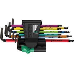 Zestaw kluczy imbusowych 9 szt. 967 SPKL/9 Multicolour TORX, TORX BO Wera 05024335001, 967 SPKL/9 Multicolour
