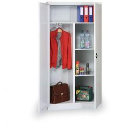 Kombinowana szafka ubraniowa z półkami, 1950x600x400 mm, szara