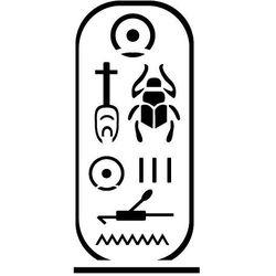 Szablon malarski z tworzywa, wielorazowy, wzór etniczny 24 - hieroglify