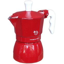Kawiarka Top Moka Coccinella czerwona - 1 filiżanka z kategorii Zaparzacze i kawiarki