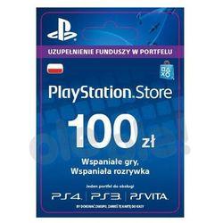Sony Doładowanie PlayStation Network 100 zł [kod aktywacyjny] z kategorii Kody i karty pre-paid