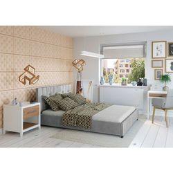 Big meble Łóżko 140x200 tapicerowane modena + pojemnik welur szare