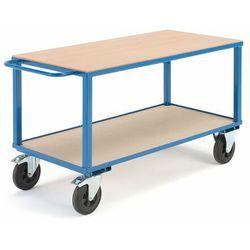 Wózek warsztatowy, hamulce, 2 koła skrętne, 600 kg, 1400x700x830 mm