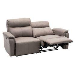 Sofa 3-osobowa HENEL z tkaniny, z elektryczną funkcją relaksu – kolor szary, kolor szary