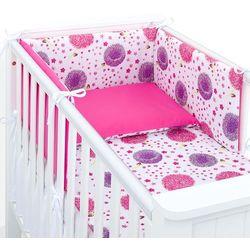 ochraniacz rozbieralny do łóżeczka 60x120 dmuchawce róż / ciemny róż marki Mamo-tato