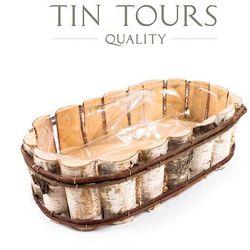 Tin tours sp.z o.o. Owalna balkonówka z brzozy 45x26x12 cm