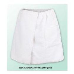 Sauna kilt ręcznik biały 100% bawełna męski 50*140 550 g/m2 marki Produkcja własna