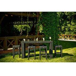 Bello giardino Ogrodowy zestaw mebli barowych glamour z technorattanu ciemny brąz