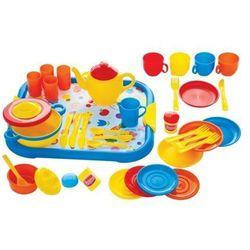 Zestaw serwis obiadowy do zabawy dla dzieci - 40 elementów marki Bigjigs toys