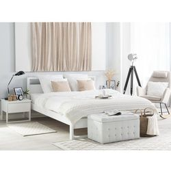 Łóżko drewniane białe 180 x 200 cm giulia marki Beliani