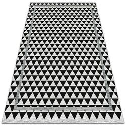 Dywanomat.pl Nowoczesny dywan tarasowy nowoczesny dywan tarasowy czarno białe trójkąty