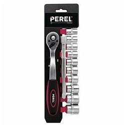 """Perel samochodowy zestaw gniazdek 3/8"""" - 12 szt. klucze nasadowe z grzechotką (5410329470494)"""