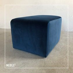 Pufa Blues Niebieska - Meble Kwadrat