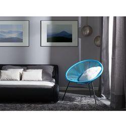 Beliani Zestaw 2 krzeseł ogrodowych niebieskie acapulco