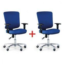 Krzesło biurowe hilsch 1+1 gratis, niebieski marki B2b partner