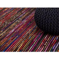 Beliani Dywan wielokolorowo-czarny bawełniany 80x150 cm bartin