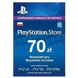 Sony PlayStation Network 70 zł [kod aktywacyjny] (0000006200062)
