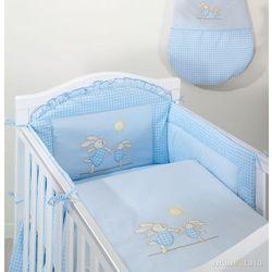 MAMO-TATO pościel 3-el Wesołe zajączki w błękicie do łóżeczka 60x120cm