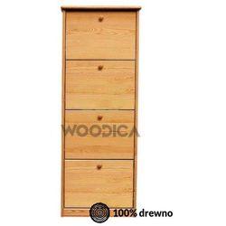 Szafka na buty iv (wąska/szeroka) 72x150x29 marki Woodica