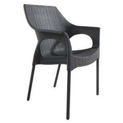 Eleganckie krzesło do ogrodu polyrattanowe Bahati antracytowe - sprawdź w wybranym sklepie