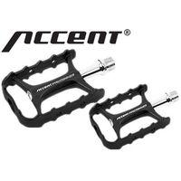 600-10-49_ACC Pedały ACCENT VOLUME łożyska maszynowe, czarno-srebrne, aluminiowe
